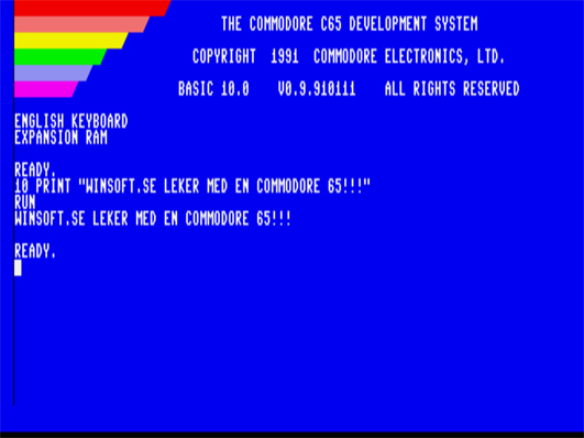 Commodore 65 screen
